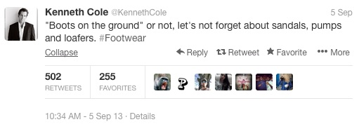 Kenneth Cole Syria tweet